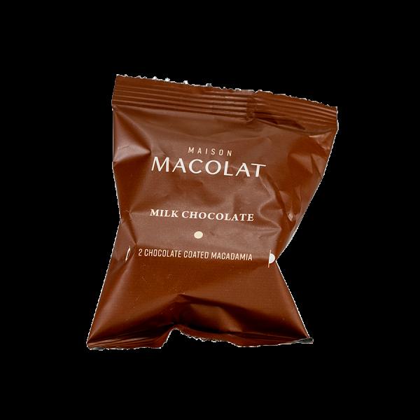 Macadamia Nuesse in Vollmilchschokolade Artikelbild Milk Flow Wrap