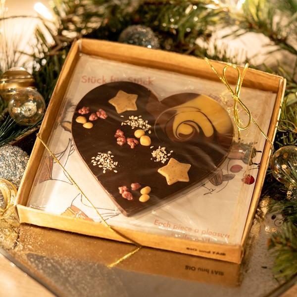 Mi Xing Herz mit Weihnachtssternen Moodbild