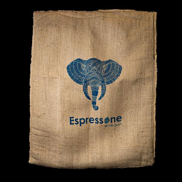 Kaffeesack aus Indien Elefant blau Artikelbild