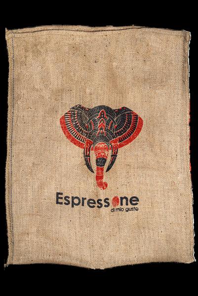 Kaffeesack aus Indien Elefant Vorderseite