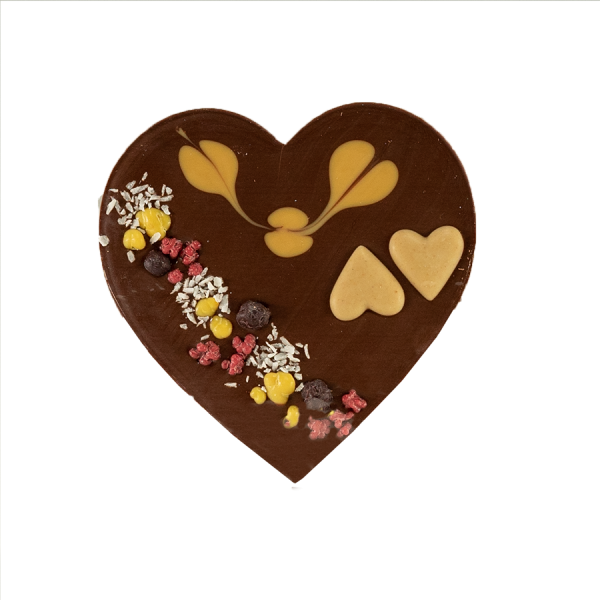 Zotter Mixing Herz mit Karamellnougat Produktbild