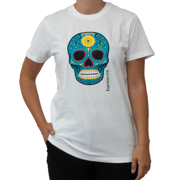 Unisex T Shirt Totenkopf weiss Artikelbild