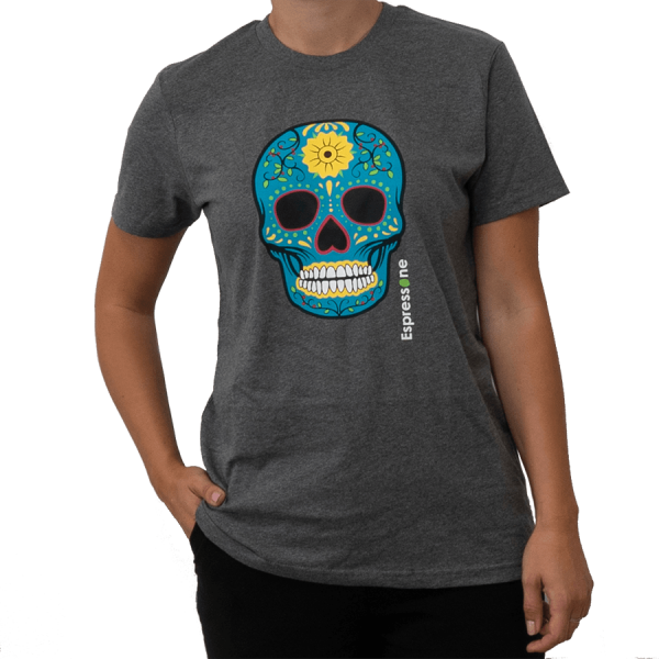 Unisex T Shirt Totenkopf grau Artikelbild