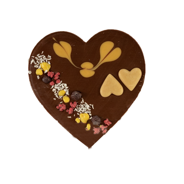 Zotter Mixing Herz mit Karamellnougat Produktbild Karamellnougatherz