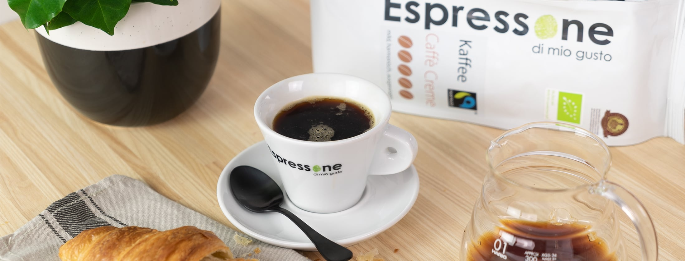 Espressone Bio FairTrade Kaffee Cafe Creme